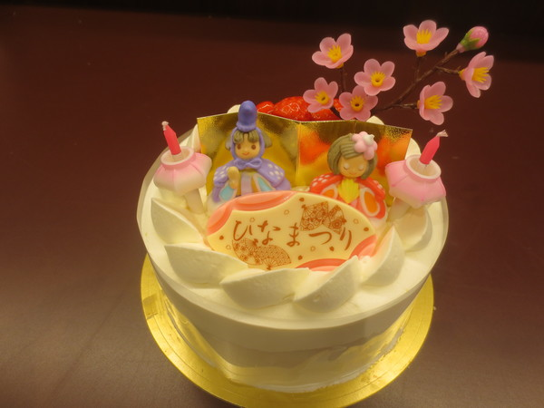 かわいいひなまつりケーキは小倉のアラモードへ